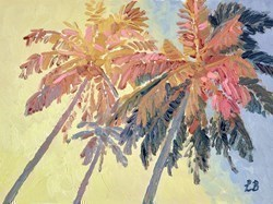 Golden Palms by Leila Barton -  sized 16x12 inches. Available from Whitewall Galleries